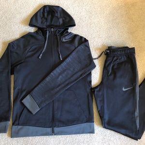 Nike Therma Sweatsuit Black Mens Small